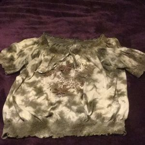 Brown Tie Dyed Shirt